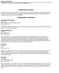 Resume Format Media Jobs sample media resume resume express