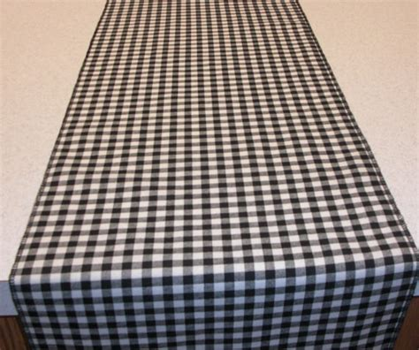 Checkered Table Runner by 11 X 72 Black And White Gingham Table Runner