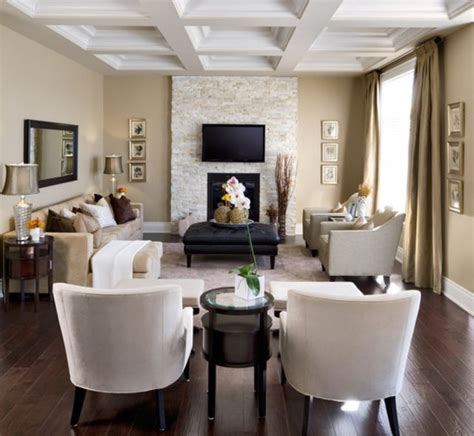 image result  narrow living room layout  fireplace