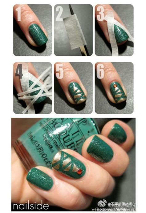 christmas nail art tutorial easy 15 simple yet fabulous nail tutorials for beginners