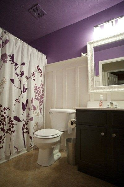 Purple And White Bathroom Wainscotting Purple And White Bathroom Bath Ideas Juxtapost