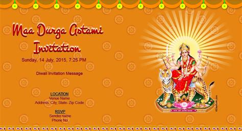 Invitation Letter Format Vishwakarma Puja Free Durga Puja Invitation Card Invitations
