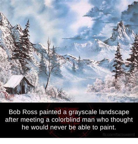 bob ross grayscale painting bob ross painted a grayscale landscape after meeting a