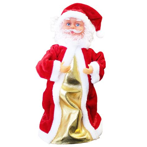singing santa claus dancing christmas decoration xmas