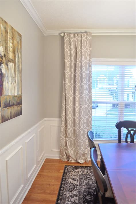 dining room curtain panels not so newlywed mcgees dining room curtains