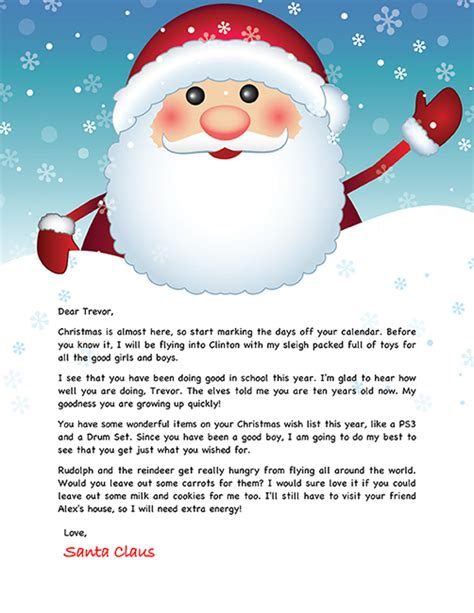 printable personalized letters from santa printable personalized letters from santa home letter