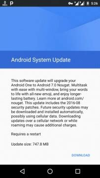 android 7.0 nougat update hits android one phones afcauto