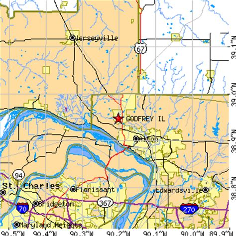 Cottage Il Zip Code by Godfrey Illinois Il Population Data Races Housing