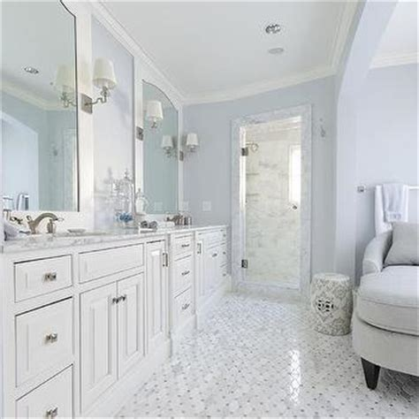 blue grey and white bathroom gray and white master bathroom with side medicine cabinets