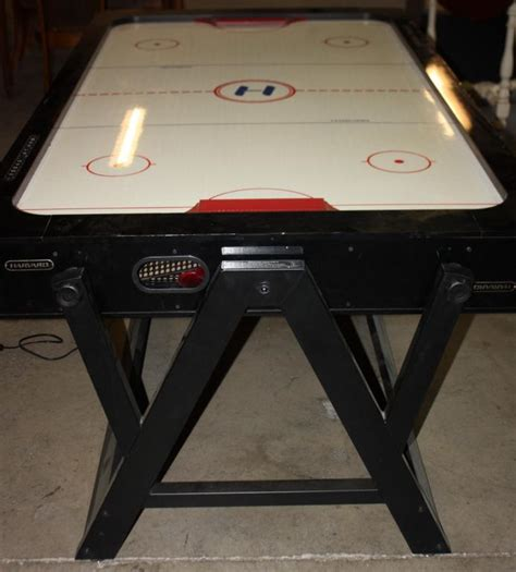 Harvard Air Hockey Game W Flip Over For Pool Table