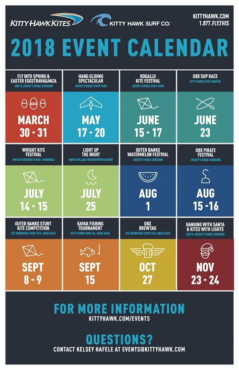 event schedule kitty hawk kites