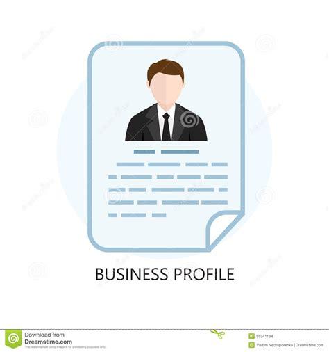 flat design company profile business profile icon flat design concept stock vector