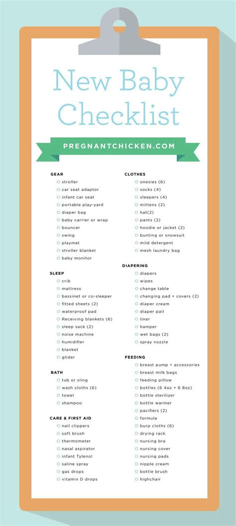 Things Needed For A Baby Shower by New Baby Checklist What To Get When Expecting