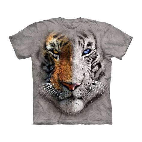 713252 The Mountain Sweater White Tiger Crew Neck the mountain big split tiger t shirt clothingmonster