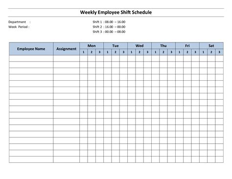 free printable employee work schedules weekly employee shift schedule 8 hour shift monthly