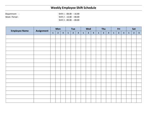 Free Printable Employee Work Schedules Weekly Employee Shift Schedule 8 Hour Shift Monthly Employee Days Calendar Template