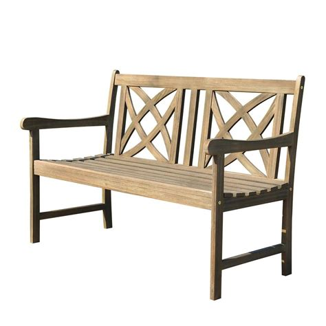 outside benches home depot vifah designer garden patio bench v188 the home depot