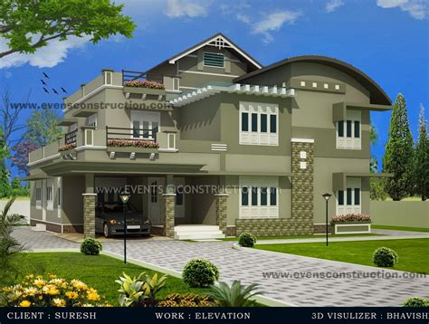 kerala home design january 2013 evens construction pvt ltd 3d kerala house designs