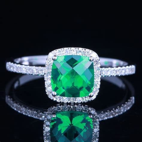 antique emerald engagement rings unique engagement ring