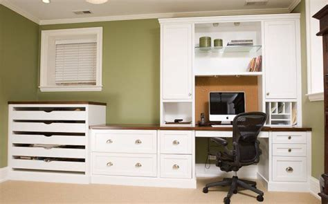 Custom Home Office Desk Beautiful White Home Office Furniture With Custom White Home Office Cabinetry And Desk Home