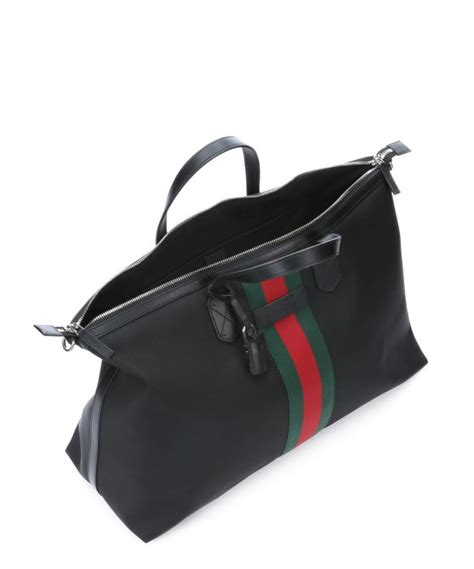 Flypower Pouch Bag Black gucci black techno canvas carry on tote bag in green lyst