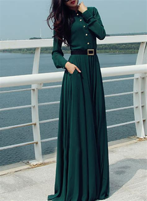 solid color maxi dresses sleeve solid color maxi dress with belt oasap