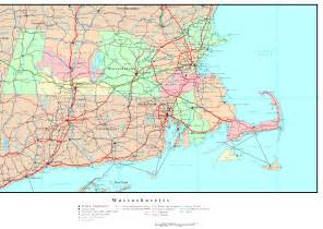 Map Massachusetts by Massachusetts Political Map