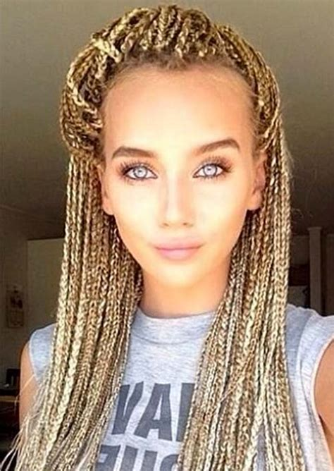 blonde hairstyles braids 35 awesome box braids hairstyles you simply must try