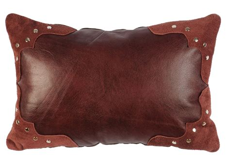 corner bed pillow ruby leather pillow with corner contrast decorative
