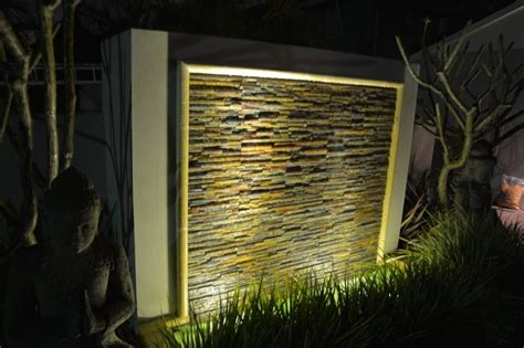 diy wall cascading water features with cladding
