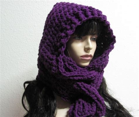 free pattern hooded scarf crochet crocheted hooded scarf pattern crafts free easy