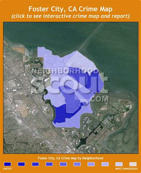 foster city california map foster city 94404 crime rates and crime statistics