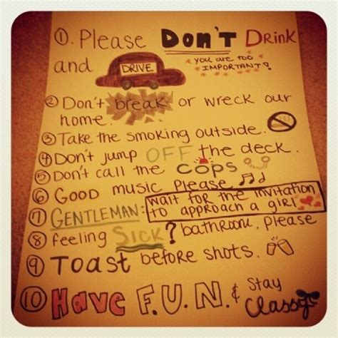 house party rules 17 best ideas about house party rules on pinterest college party games college
