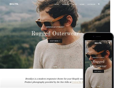 shopify themes brooklyn 7 shopify ecommerce themes we love springboard marketing