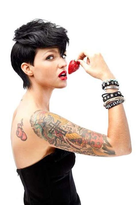 how to do ruby roses haircut latest celebrity short hairstyles 2014 short hairstyles