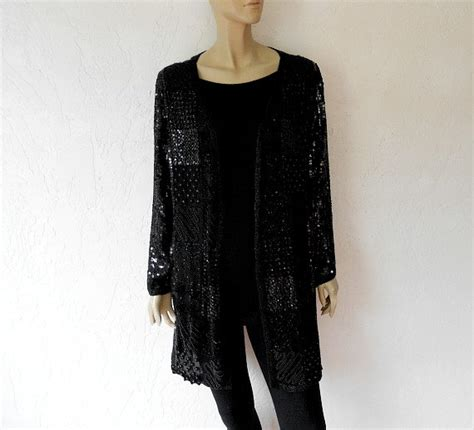 beaded evening jackets vintage beaded evening jacket 80 s black silk by luvofvintage
