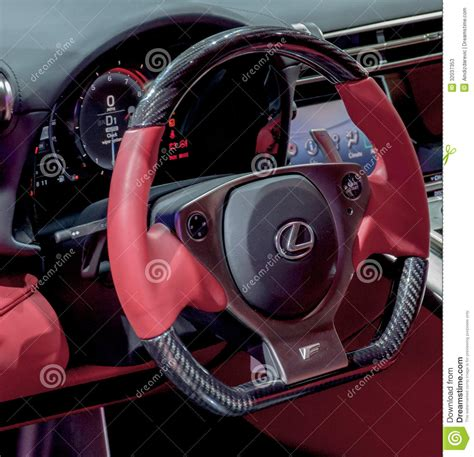 lexus lfa steering wheel steering wheel of lexus lfa editorial stock photo image