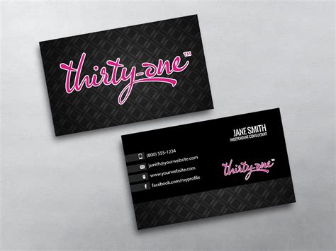 thirty one business card template thirty one business cards free shipping