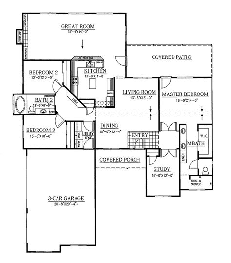 split ranch floor plans split bedroom house plans one floor