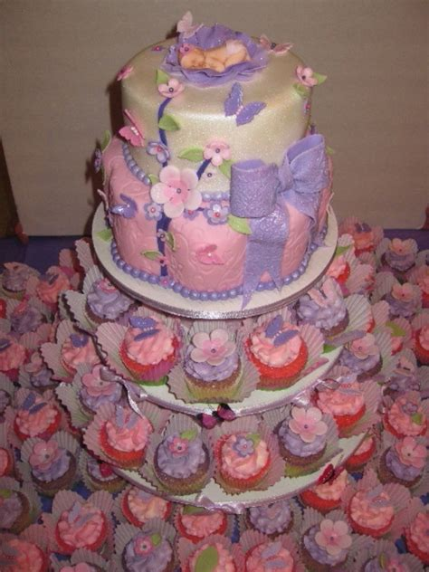 bakery for baby shower cakes sugar plum baby shower cake cupcakes cakecentral
