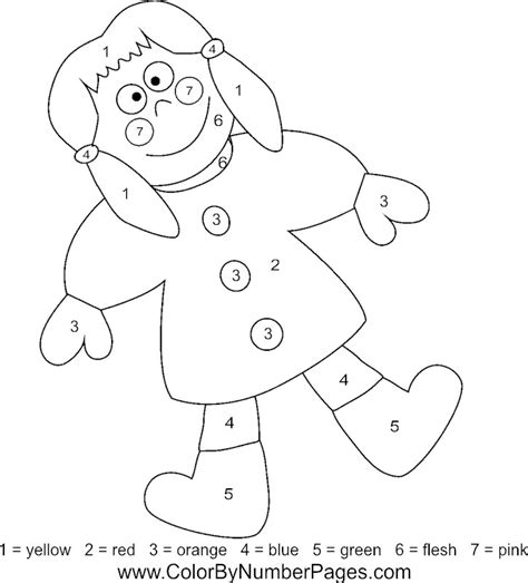 toys coloring pages preschool toy color by number pages