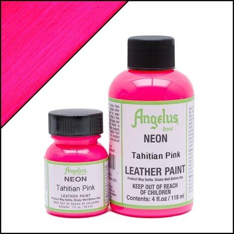 angelus paint pink angelus neon tahitian pink paint acrylic leather paint