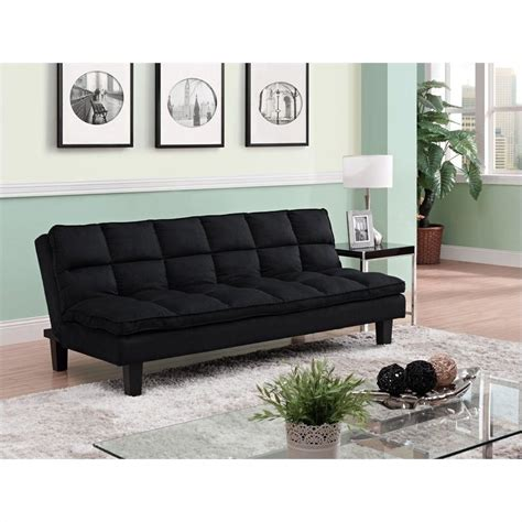 pillow top sofa pillow top convertible futon sofa in black 2025017