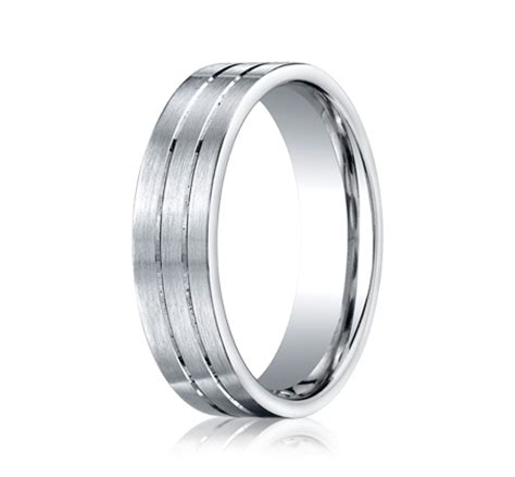 mens wedding bands white gold comfort fit benchmark rings 14k white gold comfort fit mens wedding band