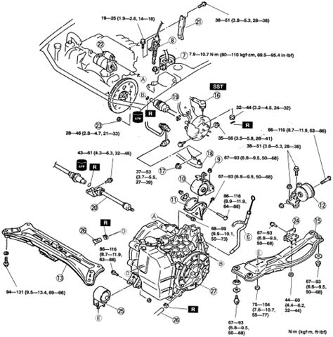 motor repair manual 1992 mazda 626 transmission control repair guides automatic transaxle transaxle removal installation 3 autozone com