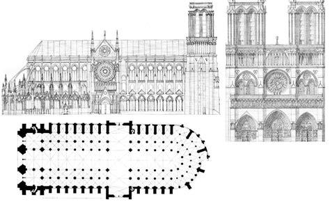 notre dame cathedral floor plan i need castles blueprints help me plz thnks