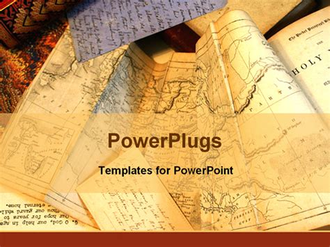 powerpoint templates for history presentations ephemera old documents paper powerpoint template
