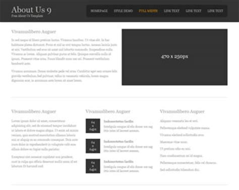 About Us 9 About Us Templates Os Templates About Page Template