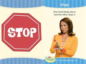 Stop sign language this week s sign comes from