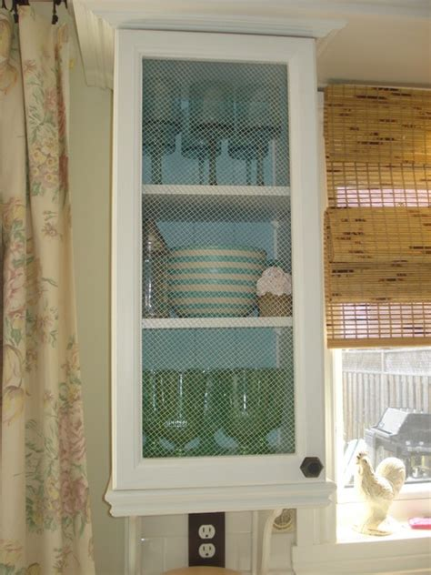 Chicken Wire Kitchen Cabinets by Kitchen Cabinet With Chicken Wire